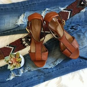 ❣Chloè Brown Leather Wedges❣
